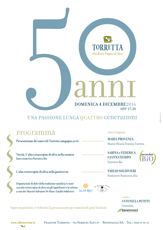 Favorito 50 anni di olio: buon compleanno Torretta! OR44